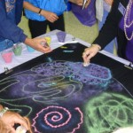 Creating the sand mandala