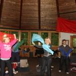 Celebratory dancing