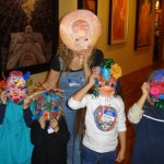Showing off the finished masks