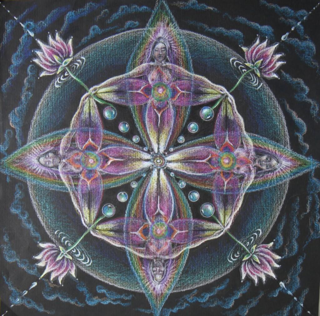 Lotus Goddesses Mandala