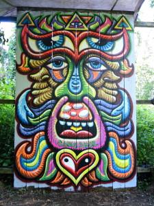 Chris Dyer graffiti piece