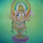 Ganesha, work in progress by Eileen M. Rose (Photo by Mavis Gewant)