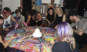 Communal Sand Mandala at the Autumnal Equinox