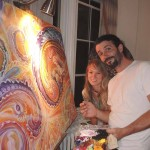 Morgan Mandala and Randal Roberts live painting collaboration