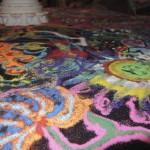Sand mandala close ups